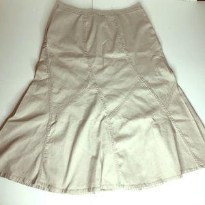 Tan Denim A-lime Skirt